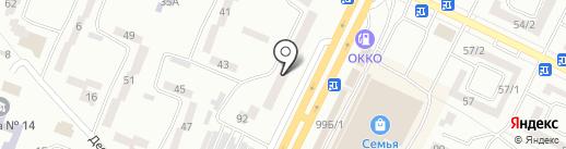 На чемоданах на карте Одессы