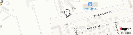 Зеленый мыс на карте Крыжановки