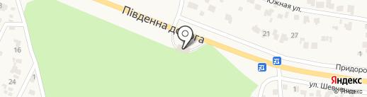 АЗС Укрнафта на карте Лесок
