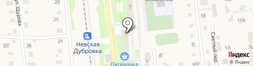 Магазин печатной продукции на ул. Томилина на карте Дубровки