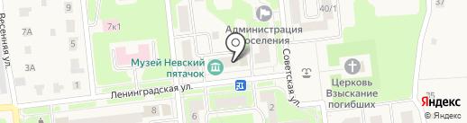 Дубровское на карте Дубровки