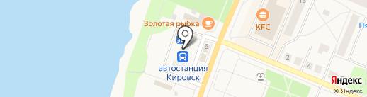 Чешское на карте Кировска