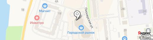Кировский вещевой рынок на карте Кировска