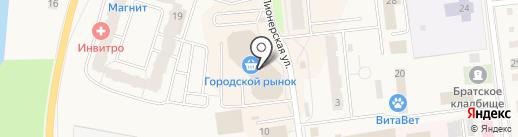 Магазин семян на Пионерской на карте Кировска