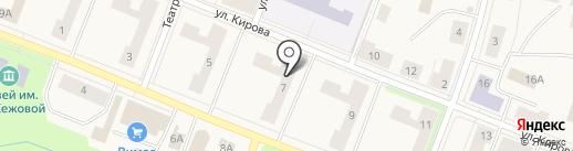 Мелан на карте Кировска