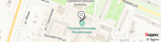 Прорыв блокады Ленинграда на карте Кировска