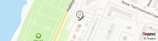 Шиномонтажная мастерская на Набережной на карте Кировска