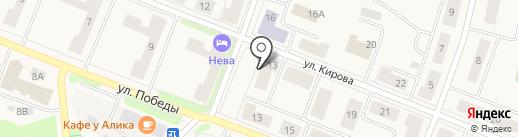 Магазин товаров для спорта, туризма и отдыха на карте Кировска