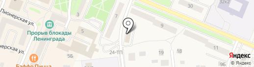 Магазин нижнего белья на карте Кировска