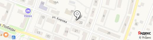 Делис на карте Кировска