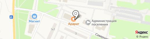 Литературное на карте Кировска