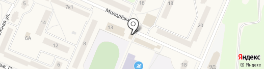 Магазин спорттоваров на Молодёжной на карте Кировска