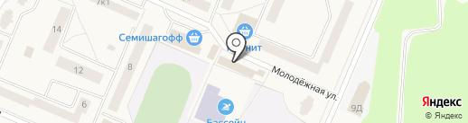 Кондитерский магазин на карте Кировска