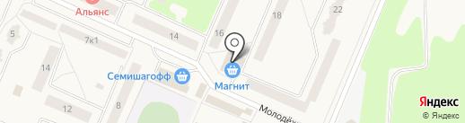 Магазин автозапчастей на Молодёжной на карте Кировска