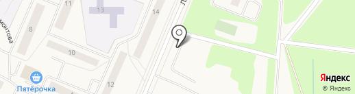 Автостоянка на Ладожской на карте Кировска
