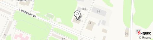 Магазин товаров для сада на Северной на карте Кировска