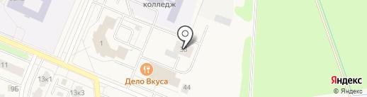Лайн на карте Кировска