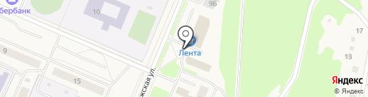 Автостоянка на Ладожской (Кировск) на карте Кировска