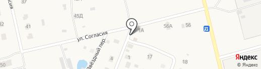 Продовольственный магазин на Звёздной на карте Новой Мельницы