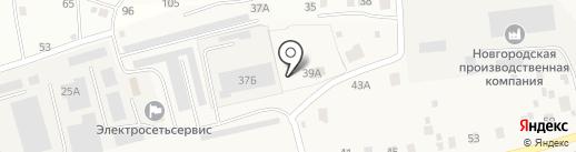 Щит на карте Новой Мельницы