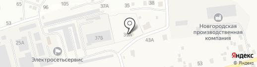 Цемент и шифер на карте Новой Мельницы