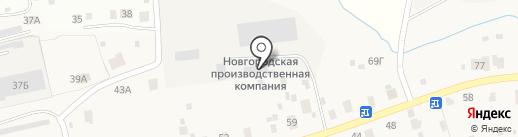 Автокомплекс в д. Новая Мельница на карте Новой Мельницы