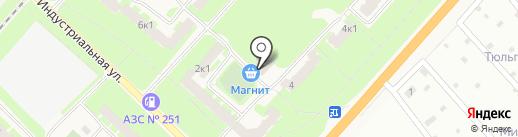Продовольственный магазин на Индустриальной на карте Панковки