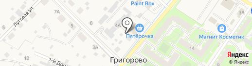 Пятёрочка на карте Григорово