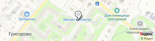 Киоск по продаже овощей и фруктов на карте Григорово