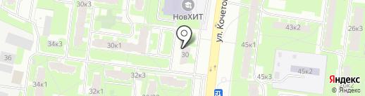 Манеки неко на карте Великого Новгорода