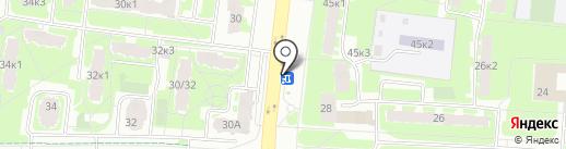 Флоранс на карте Великого Новгорода