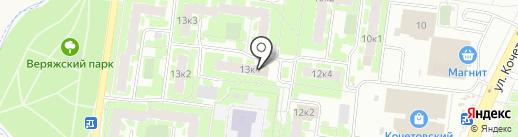 Расчетно-кассовый центр, МУП на карте Великого Новгорода