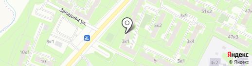 Парикмахерская на ул. Коровникова на карте Великого Новгорода