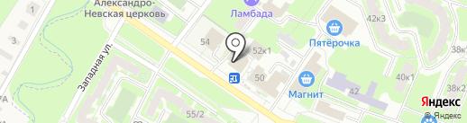 Эльбор на карте Великого Новгорода