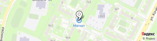 Улыбка Радуги на карте Великого Новгорода
