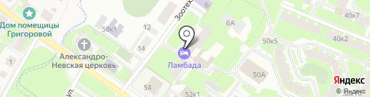 Ламбада на карте Великого Новгорода