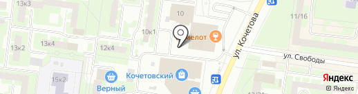У Кочетовского рынка на карте Великого Новгорода