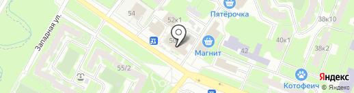Градусы на карте Великого Новгорода