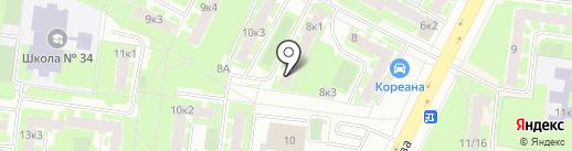 Акварель на карте Великого Новгорода