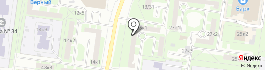 Окнамарин на карте Великого Новгорода
