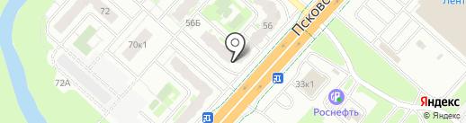 Уценочка на карте Великого Новгорода