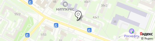 Антураж на карте Великого Новгорода