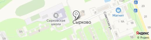 Кондитерская лавка на карте Сырково