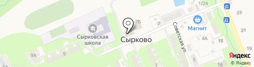 Градусы на карте Сырково