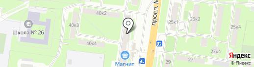 Молочная кухня на карте Великого Новгорода