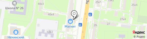 Магазин по продаже кондитерских изделий и бакалеи на карте Великого Новгорода