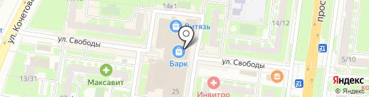 Новый Торг на карте Великого Новгорода