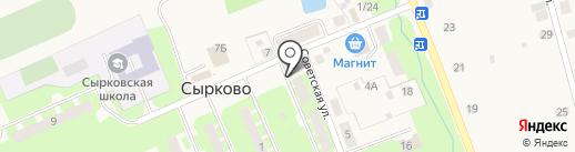 Банкомат, Северо-Западный банк Сбербанка России на карте Сырково