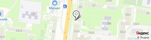 Оранж на карте Великого Новгорода