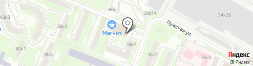 Март на карте Великого Новгорода